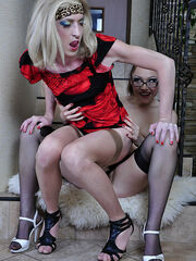 Katharine B&Austin A sissy whore and strapon lady